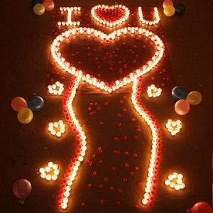 生日蜡烛玫瑰套餐,给她布置一个浪漫的活动
