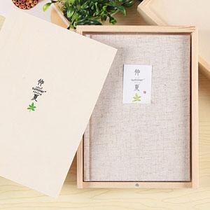 初品彩页木盒装笔记本,唯美创意的布面笔记本