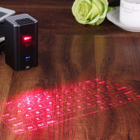 黑科技外星人镭射投影键盘,任何地点都能成为你打字的舞台
