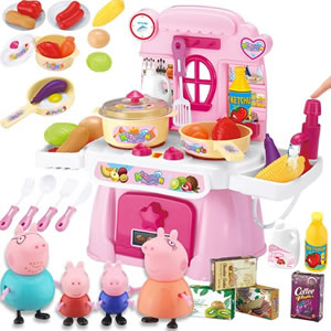 小猪佩奇玩具大礼包,送给小朋友的充满童趣的礼物