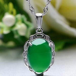 天然绿玉髓宝石项链,母亲节感恩节送妈妈送婆婆