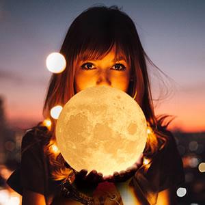 抖音同款3d打印月球灯,用最美的月亮陪伴你每个日夜