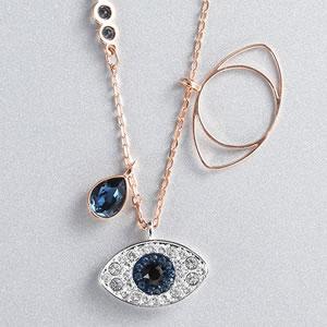 施华洛世奇恶魔之眼项链,超模米兰达·可儿跨界设计