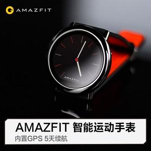 AMAZFIT智能运动手表,可接电话收短信支付宝快捷支付