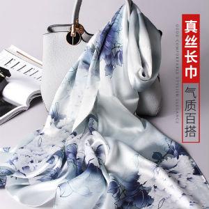 玖纪100%桑蚕丝印花丝巾,做精致优雅的女人(精美礼盒)