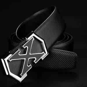 男士韩版百搭X皮带,一款时尚简约适合年轻人的皮带