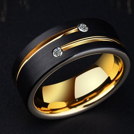 Saya男士钨金简约戒指,钨金是男人的运势之金