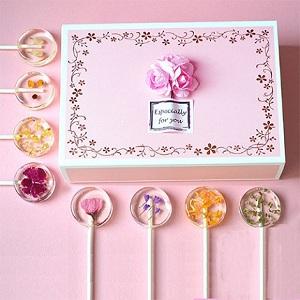日本樱花棒棒糖礼盒装,送女友的高颜值又美味的礼物